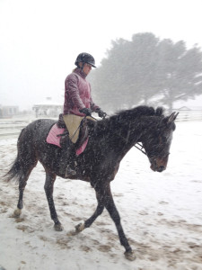 Jezebel and Michelle In the snow!