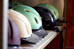 Helmet rack