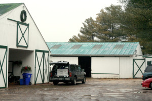 Main barn left- Upper barn on top! (and the vet truck)