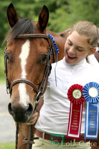 E and Austin in the ribbons
